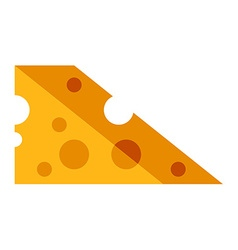 Piece of cheese Flat style Food icon vector image