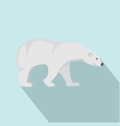 polar bear icon flat style vector image
