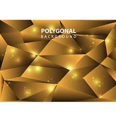 Polygonal background gold vector
