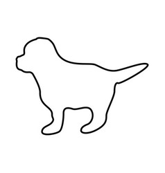 Puppy black color icon vector