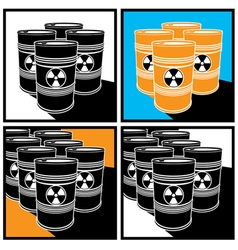 radioactive barrels vector image