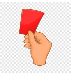 Red card football icon cartoon style vector