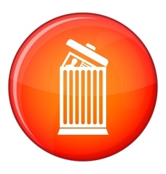 Resume thrown away in the trash can icon vector
