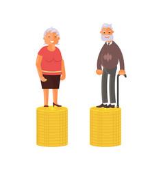 retirement money plan and savings growth vector image