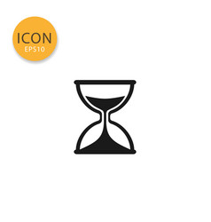 sand clock or hourglass icon isolated flat style vector image