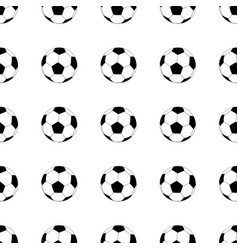 Seamless pattern with soccer balls on white vector