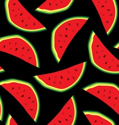 Seamless pattern with watermelons backround design vector