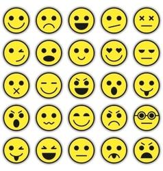 Set of Emoticons Set of Emoji vector