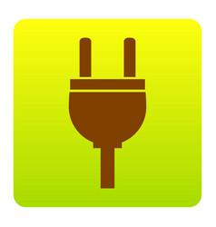 socket sign brown icon at vector image