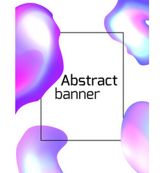 template of an abstract banner with holographic vector image