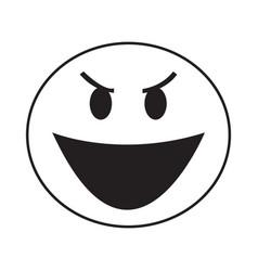 Thin line evil laugh icon vector