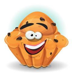 cartoon cake character vector image