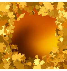 Gold autumn background with leaves EPS 8 vector image