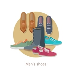 Men s Shoes Stylish Footwear for Man vector image