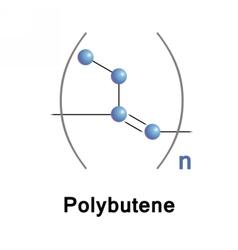 Polybutene oligomer plasticizer vector image