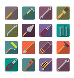 Set of renovation tools icons vector image