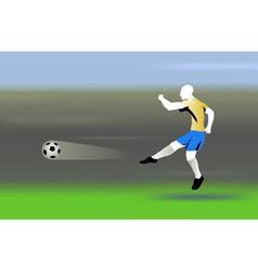 shooting the ball vector image