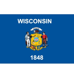 Wisconsin flag vector image