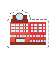 cartoon building marker window vector image