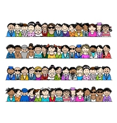 People icons set for your design vector image vector image