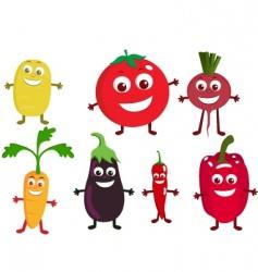 vegetable cartoon vector image