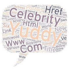 Yuddy com provides the celebraties and biography vector