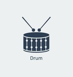 drum icon silhouette icon vector image vector image