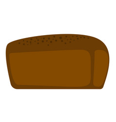 fresh black bread cartoon vector image