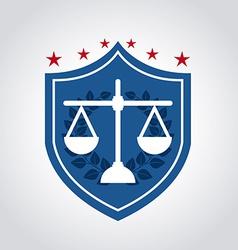 justice design vector image vector image