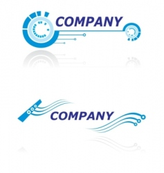 Logo for modern company vector
