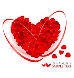 red rose petal heart vector image vector image
