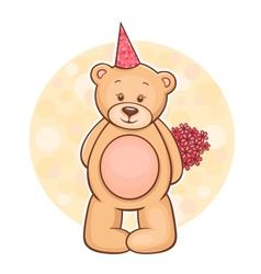 Teddy Bear flowers vector image