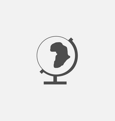 World globe web line icon vector