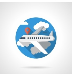 Airline travel color detailed icon vector image vector image
