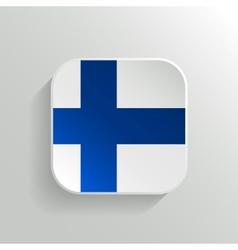 Button - Finland Flag Icon vector image vector image
