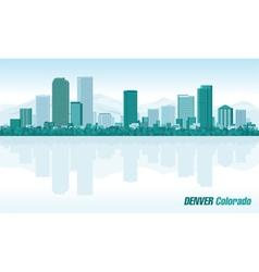 Denver Colorado detailed skyline vector image