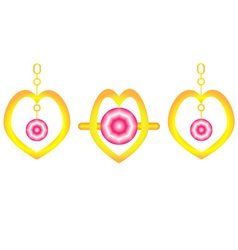 Ring and ear rings vector image