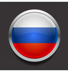 Round flag of Russia vector image