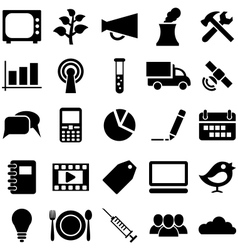 Set icons and symbols vector image vector image