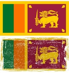 Sri Lanka grunge flag Grunge effect can be vector image vector image