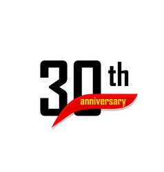 30th anniversary abstract logo thirty vector