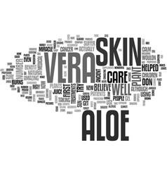 Aloe vera remedies text word cloud concept vector