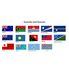 australia and oceania flags vector image