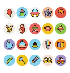 Baby icons 3 vector