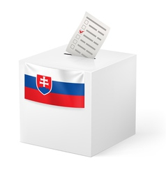 Ballot box with voting paper Slovakia vector