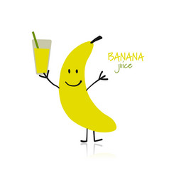 banana funny character for your design vector image