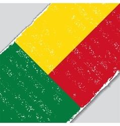 Benin grunge flag vector image