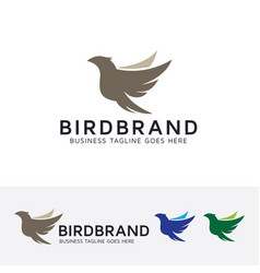 bird brand logo design vector image