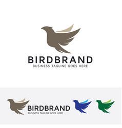 Bird brand logo design vector