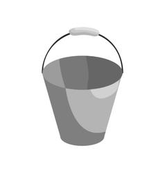 Bucket icon black monochrome style vector image